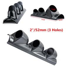 """52mm / 2"""" Carbon Fiber Look 3 Holes Car Dash Gauge Mount Holder  Pod Bendable"""
