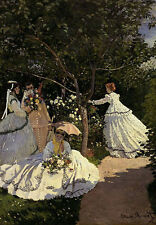 QUALITY CANVAS ART PRINT * Claude MONET * Women in the garden