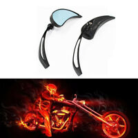 Tear Drop Black Motorcycle Mirrors For Harley Davidson Chopper Cruiser Custom