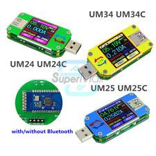 UM24 UM24C UM25 UM25C UM34 UM34C Color LCD Voltage Current Power Capacity Tester