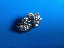 Bijoux Broche Fantaisie Couple Cygnes / Birds Brooch