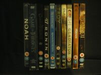 10 x DVDS VARIOUS MIX UP MAINLY ACTION PACKED FILMS INCLUDES GAME OF THRONES