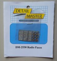 Radio Faces 1:24 1:25 DETAIL MASTER CAR MODEL ACCESSORY 2530