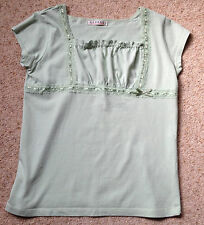 GIRLS PRETTY LACE TRIM TOP FROM GEORGE  AGE 11-12 YEARS  EX COND