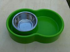 Ciotola Eureka antiformiche cani gatti verde con inserto inox