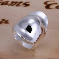 *UK Shop* 925 SILVER PLT LARGE CHUNKY THICK WIDE SHIELD THUMB KNUCKLE BAND RING