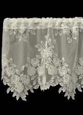 """Heritage Lace Ecru TEA ROSE Window Valance 60""""x17"""""""