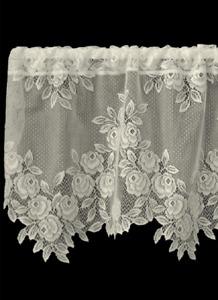 "Heritage Lace Ecru TEA ROSE Window Valance 60""x17"" - Made in USA!"