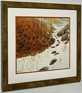 BEV DOOLITTLE Doubled Back Matted & Framed Open Edition Art Print Grizzly Bear