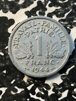 1944-B France 1 Franc (5 Available) Circulated (1 Coin Only)