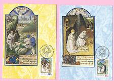 AUSTRALIA FDC 2001 - Set of 2 MAXICARD - CHRISTMAS  - Shs KINGS MEADOWS, Tas