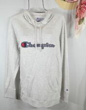 Champion Women's Light Gray Heather Logo Pullover Hoodie Sweater Top XL NWT
