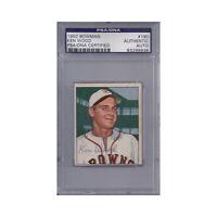 Ken Wood Signed 1950 Bowman - PSA DNA