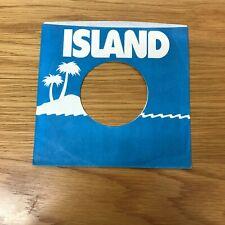 "One 7"" -- Island --Original Record  Sleeve   2a"