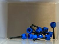 4593 4592c02 Lot Lego 10x Shifter Vehicle Blue 4592