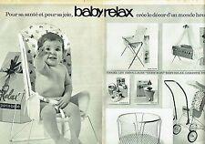 Publicité Advertising 067  1964  les sièges bébé Baby Relax (2p) parc biberon