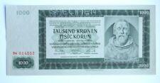 More details for bohemia and moravia 1000 korun specimen 1942 unc p14