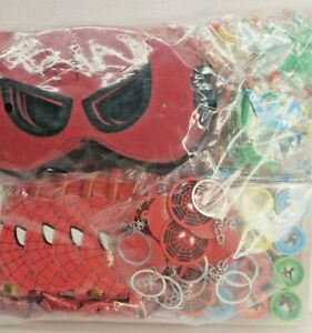 12 person Spiderman Party Favor Goodie Gift Birthday Loot Boxes, Masks, Stamps..