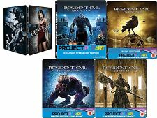 Resident evil full collection 1,2,3,4,5 Steelbook Blu-ray New &Sealed !!!!!