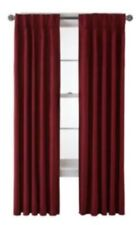 "Royal Velvet Supreme Pinch-Pleat/Back-Tab Lined Panel 50""x84""ea, French Cabernet"