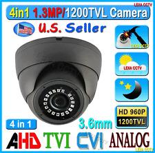 LEXAcctv 4in1 HD 1.3MP 960P 3.6mm TVI AHD CVI Analog SecurityMetal Camera Dome