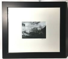 Original Photo Yosemite Valley Snow Storm Signed. In Style Of Ansel Adams