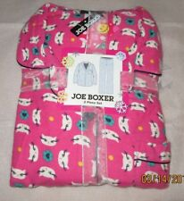 JOE BOXER 1X   FLANNEL PAJAMAS PJS NWT PINK CATS  WOMENS +