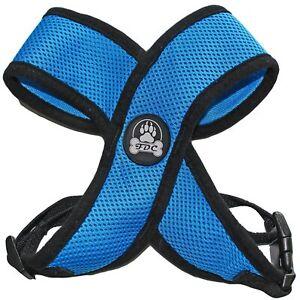 BLUE Dog Harness More Comfort Puppy Soft Mesh Small Medium Large XXS -XL