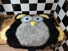 "Handmade Owl Crochet Rug - 40"" x 36"""
