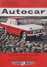 Autocar magazine 28/9/1962 featuring Ford road test, Rover, Porsche 804, Triumph
