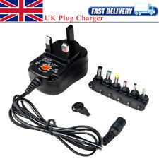 Universal 12W AC/DC Power 6 Adapter Heads UK Plug Charger 3V 4.5V 6V 7.5V 9V 12V