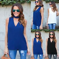 Fashion Womens Ladies Summer Vest Top Sleeveless Casual Tank Blouse Tops T-Shirt