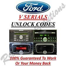 Ford V Serial Radio Unlock Code - Escort - Fiesta - Focus - Mondeo - Transit