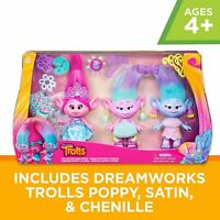 Trolls Poppy and Twins Celebration Pack 3-Figures Fashion Characters DreamWorks