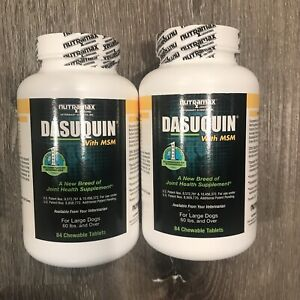 (2) Nutramax Dasuquin MSM Joint Health LARGE Dog Over 65lbs 168 Chewable Tablets