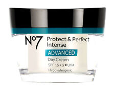 BOOTS No7 PROTECT & AND PERFECT INTENSE ADVANCED DAY CREAM SPF15 50ml NEW BOXED