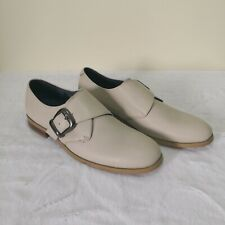 Stage of Playlord Beige Monk Strap Leather Slip On Shoes