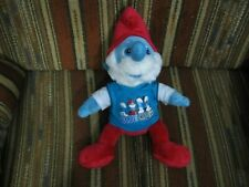 """16"""" plush Papa Smurf doll, from Build a Bear, good condition"""