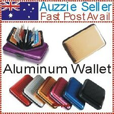 2x Gold Aluminum Credit Card Holder Wallet Protect Anti RFID Scanning Prevention