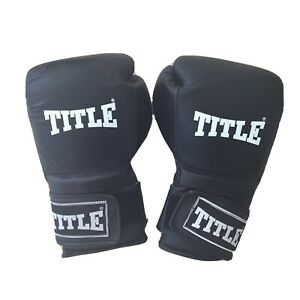 Black Title Boxing Gloves/ Used/ One Small Rip On Case /Lonsdale/ Everlast