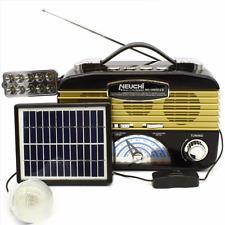 NEUCHI NC-1503U-LS Solar Powered Emergency FM/AM/SW1/SW2 4 Band Radio-pearlpanda