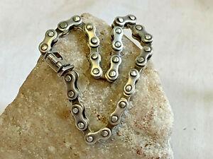 """Sterling Silver Bike Chain Bracelet 8.5"""" Jewelry 39.05g Wristlet Motorcycle"""