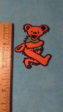 Grateful Dead Orange Dancing Bear 2 x 1.5 Inch Iron On Patch