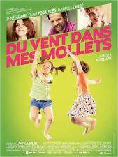 Affiche 120x160cm DU VENT DANS MES MOLLETS 2012 Agnès Jaoui, Denis Podalydès TBE