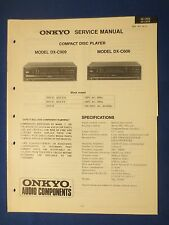 ONKYO DX-C909 DX-C606 CD SERVICE MANUAL ORIGINAL FACTORY ISSUE REAL THING