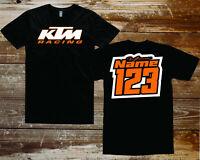 custom personalized ktm motocross racing shirt