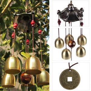 Metall Windspiel Klangspiel Windharfe Klangröhren Haus Garten Dekor Feng Shui