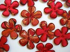40 Red Brocade Gold Embroidery Flower Applique/silk/orient/japanese print L65