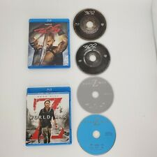 World War Z BLU-RAY Marc Forster 2013 And 300 Rise Of An Empire Great Condition
