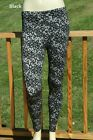 MISSES LACE PRINT FOOTLESS LEGGINGS ONE SIZE